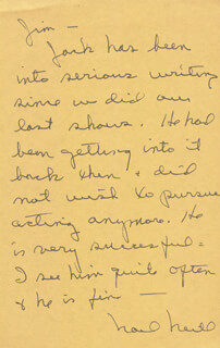 NOEL NEILL - AUTOGRAPH LETTER SIGNED