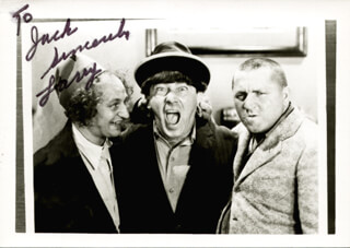 THREE STOOGES (LARRY FINE) - AUTOGRAPHED INSCRIBED PHOTOGRAPH