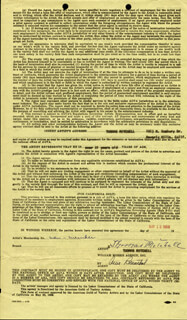 THOMAS MITCHELL - CONTRACT SIGNED 05/12/1959