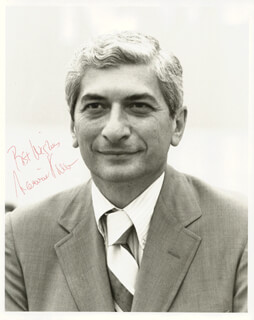 MARVIN KALB - AUTOGRAPHED SIGNED PHOTOGRAPH