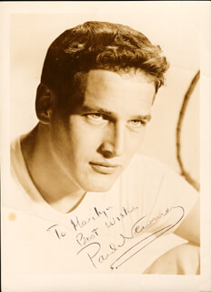 PAUL NEWMAN - INSCRIBED PHOTOGRAPH SIGNED TWICE