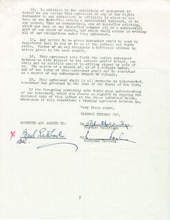 BASIL RATHBONE - CONTRACT SIGNED 03/25/1964