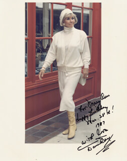 DORIS DAY - AUTOGRAPHED INSCRIBED PHOTOGRAPH 03/28/1987