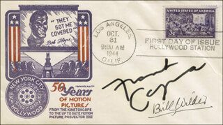 BILLY WILDER - FIRST DAY COVER SIGNED CO-SIGNED BY: FRANK CAPRA