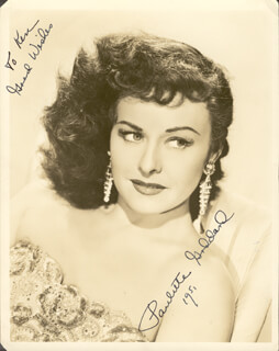 PAULETTE GODDARD - AUTOGRAPHED INSCRIBED PHOTOGRAPH 1951
