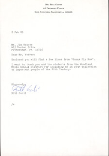 BILL CONTI - TYPED LETTER SIGNED 2/8/1986