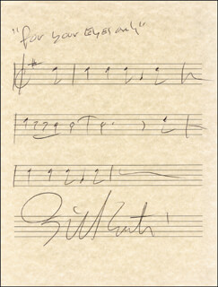 BILL CONTI - AUTOGRAPH MUSICAL QUOTATION SIGNED