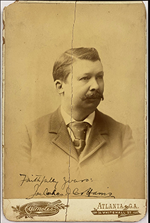 JOEL CHANDLER HARRIS - AUTOGRAPHED SIGNED PHOTOGRAPH
