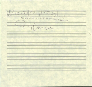 JAY LIVINGSTON - AUTOGRAPH MUSICAL QUOTATION SIGNED