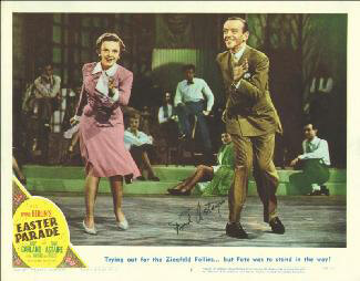 Autographs: FRED ASTAIRE - LOBBY CARD SIGNED
