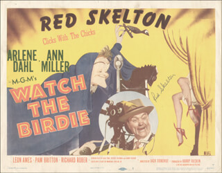 RED SKELTON - LOBBY CARD SIGNED