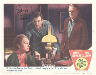 Autographs: JAMES JIMMY STEWART - LOBBY CARD SIGNED