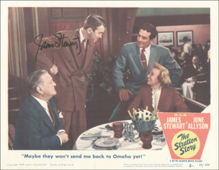 JAMES JIMMY STEWART - LOBBY CARD SIGNED