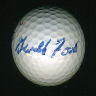Autographs: PRESIDENT GERALD R. FORD - GOLF BALL SIGNED