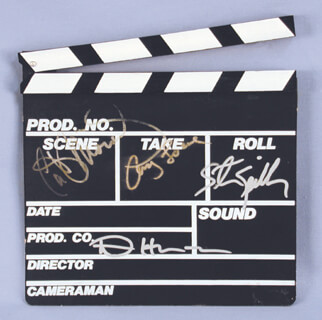 STEVEN SPIELBERG - CLAPBOARD SIGNED CO-SIGNED BY: DENNIS HOPPER, CATHY MORIARTY, AMY LOCANE
