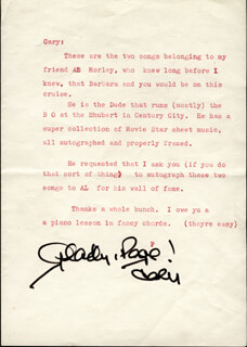 CARY GRANT - TYPED LETTER SIGNED