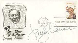 SANDY DENNIS - FIRST DAY COVER SIGNED