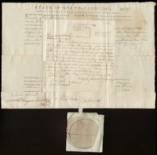 RICHARD D. SPAIGHT - DOCUMENT SIGNED 03/14/1795
