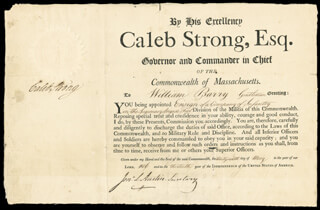 GOVERNOR CALEB STRONG - DOCUMENT SIGNED 05/26/1806