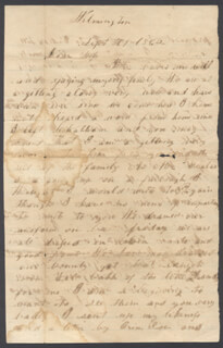 ANDREW JACKSON A.J. STONE - AUTOGRAPH LETTER SIGNED 09/01/1862