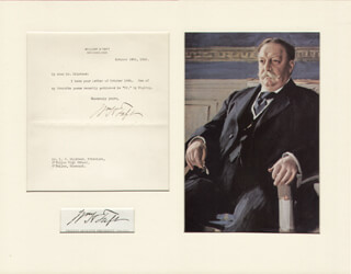 PRESIDENT WILLIAM H. TAFT - TYPED LETTER SIGNED 10/24/1916