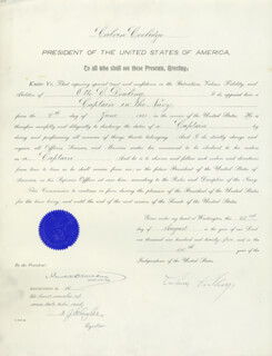 Autographs: PRESIDENT CALVIN COOLIDGE - NAVAL APPOINTMENT SIGNED 06/04/1925