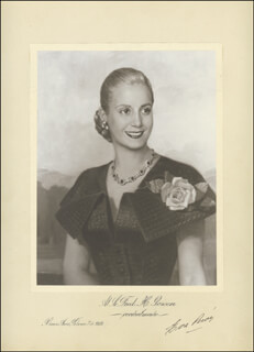 EVA EVITA PERON - ILLUSTRATION SIGNED 02/07/1952