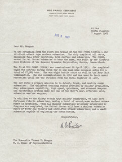 ADMIRAL HYMAN G. RICKOVER - TYPED LETTER SIGNED 08/07/1967