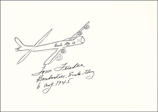 Autographs: ENOLA GAY CREW (COLONEL THOMAS W. FEREBEE) - ORIGINAL ART SIGNED