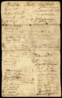 SETH THOMAS - MANUSCRIPT DOCUMENT SIGNED 09/27/1823