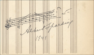 ALBERT SPALDING - AUTOGRAPH MUSICAL QUOTATION SIGNED 1941