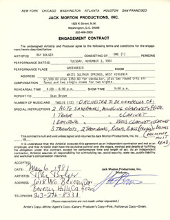 RAY BOLGER - CONTRACT SIGNED 05/06/1981