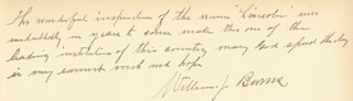 Autographs: WILLIAM J. NEVER FAIL BURNS - AUTOGRAPH STATEMENT SIGNED