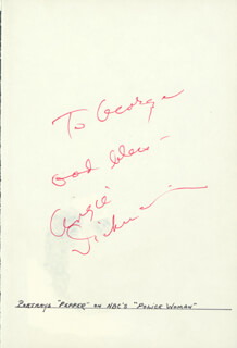 ANGIE DICKINSON - AUTOGRAPH NOTE SIGNED