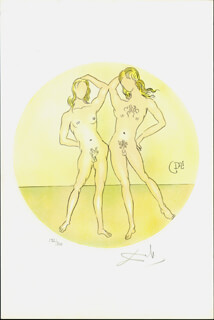 Autographs: SALVADOR DALI - ILLUSTRATION SIGNED