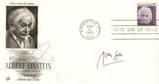 DR. JONAS SALK - FIRST DAY COVER SIGNED