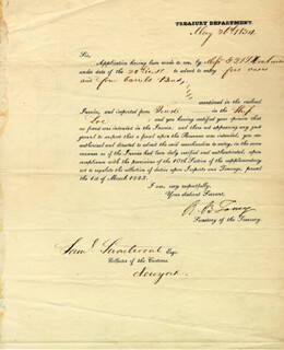 Autographs: CHIEF JUSTICE ROGER B. TANEY - DOCUMENT SIGNED 05/26/1834