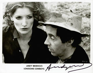 ANDY WARHOL - AUTOGRAPHED SIGNED PHOTOGRAPH