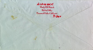 RICHARD WIDMARK - ENVELOPE SIGNED