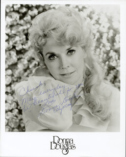 DONNA DOUGLAS - INSCRIBED PRINTED PHOTOGRAPH SIGNED IN INK