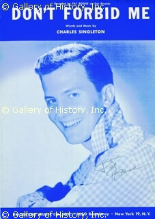 PAT BOONE - SHEET MUSIC SIGNED