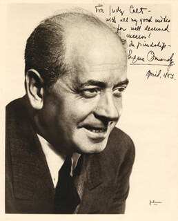 EUGENE ORMANDY - AUTOGRAPHED INSCRIBED PHOTOGRAPH 4/1963