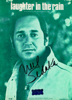 NEIL SEDAKA - SHEET MUSIC SIGNED CIRCA 1974