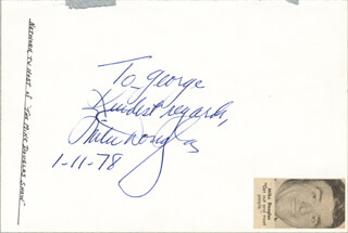 MIKE DOUGLAS - AUTOGRAPH NOTE SIGNED CIRCA 1978