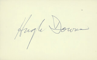 HUGH DOWNS - AUTOGRAPH