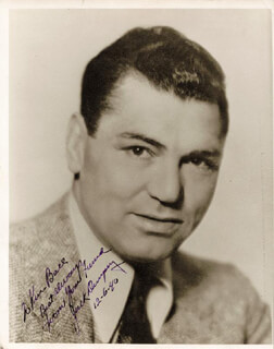 JACK DEMPSEY - AUTOGRAPHED INSCRIBED PHOTOGRAPH 12/06/1940