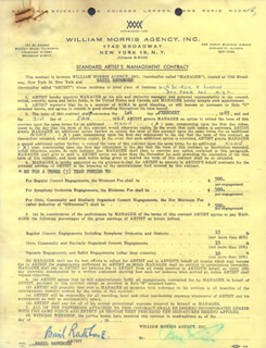 BASIL RATHBONE - CONTRACT SIGNED 03/17/1965
