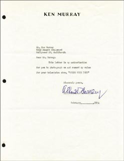 VICE PRESIDENT ALBEN W. BARKLEY - TYPED LETTER SIGNED 02/1954