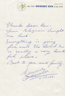 MAURICE CHEVALIER - AUTOGRAPH LETTER SIGNED 06/13/1964