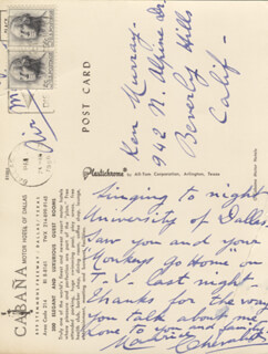MAURICE CHEVALIER - AUTOGRAPH LETTER SIGNED 1966
